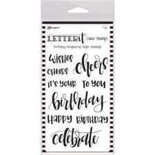 Ranger Letter It - Clear Stamps / Birthday