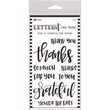 Ranger Letter It - Clear Stamps / Thank You