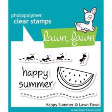 Lawn Fawn Clear Stamp - Happy Summer