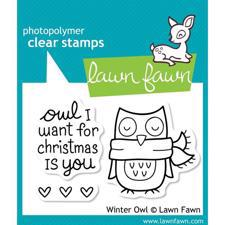 Lawn Fawn Clear Stamp - Winter Owl