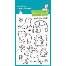 Lawn Fawn Clear Stamp Set - Critters In The Snow