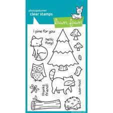 Lawn Fawn Clear Stamp Set - Critters In The Forest