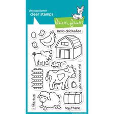 Lawn Fawn Clear Stamp Set - Critters On The Farm