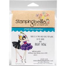 Stamping Bella Cling Stamp - Whitney og Wendy Love Wine