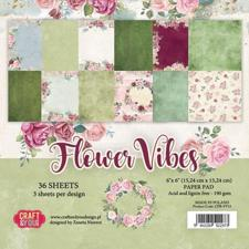 "Craft & You Paper Pad 6x6"" - Flower Vibes"
