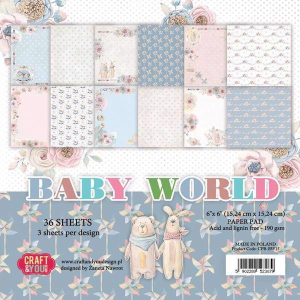 "Craft & You Paper Pad 6x6"" - Baby World"