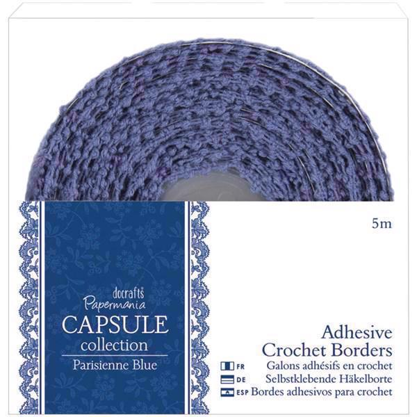 Papermania Crochet Adhesive Border - Parisienne Blue