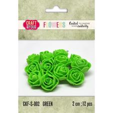 Craft & You Foam Roses - Green
