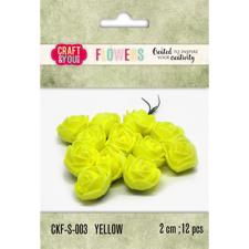 Craft & You Foam Roses - Yellow