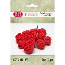Craft & You Foam Roses - Red