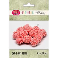 Craft & You Foam Roses - Peach