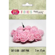 Craft & You Foam Roses - Light Pink