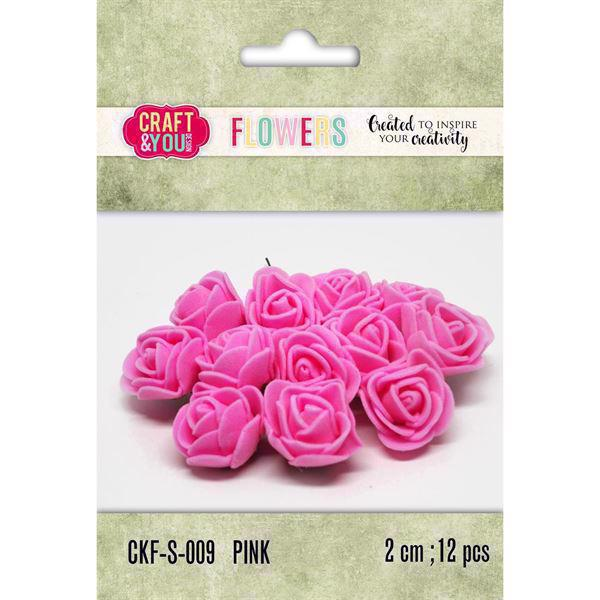 Craft & You Foam Roses - Pink