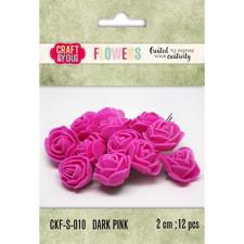 Craft & You Foam Roses - Dark Pink