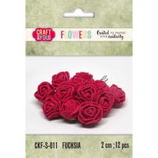 Craft & You Foam Roses - Fuchsia