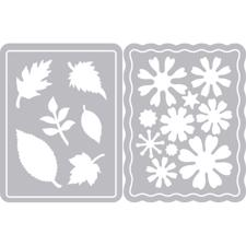 Sizzix Thinlits - Flowers & Leaves Journaling Cards