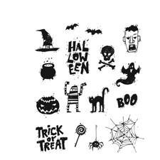 Tim Holtz Cling Rubber Stamp Set - Spooky Scribbles