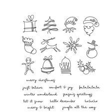 Tim Holtz Cling Rubber Stamp Set - December Doodles