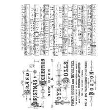 Tim Holtz Cling Rubber Stamp Set - Music & Advert