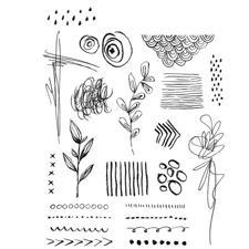 Tim Holtz Cling Rubber Stamp Set - Mini Media Marks