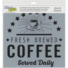 "Crafter's Workshop Template 12x12"" - Fresh Coffee"