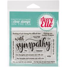 Avery Elle Clear Stamp - With Sympathy