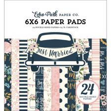 "Echo Park Paper Pad 6x6"" - Just Married"
