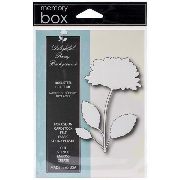 Memory Box Die - Delightful Peony Background
