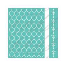 Cuttlebug Embossing Folder Set - Chick Wire