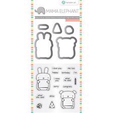 Mama Elephant / Hampton Art Clear Stamp & Die Set - Dos Amigos (mini)