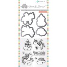 Mama Elephant / Hampton Art Clear Stamp & Die Set - Over the Rainbow (mini)