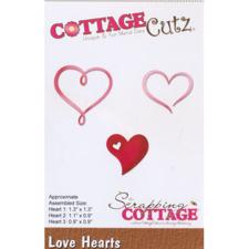 Cottage Cutz  Die - Love Hearts