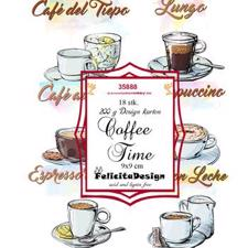 Felicita Design Card Toppers (9x9 cm) - Coffe Time