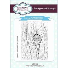 Creative Expressions  Rubber Stamp - Knotted Woodgrain