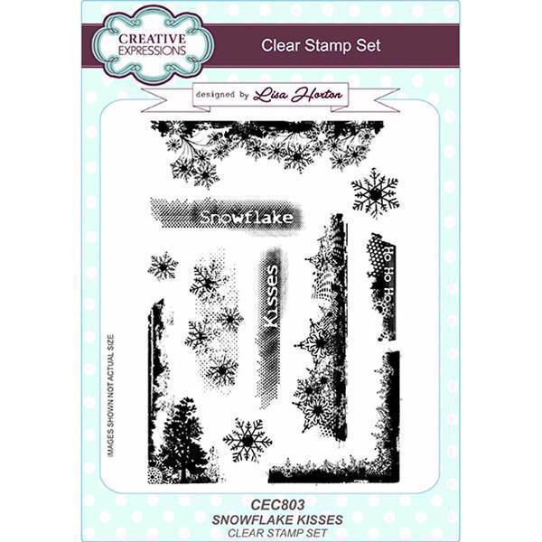 Creative Expressions  Clear Stamp Set - Snowflake Kisses
