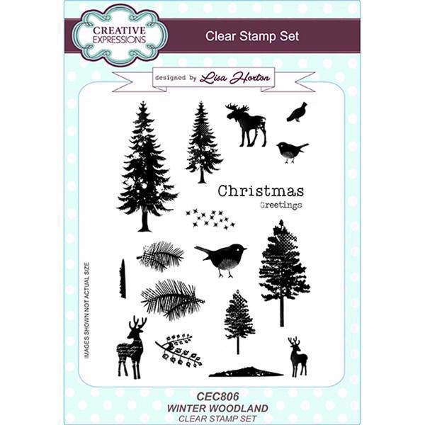 Creative Expressions  Clear Stamp Set - Winter Woodland