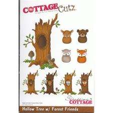 Cottage Cutz  Die -  Hollow Tree w. Forest Friends (træ med dyr)