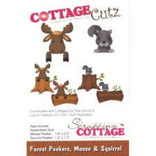 Cottage Cutz  Die - Forest Peekers Moose & Squirrel (elg & egern)