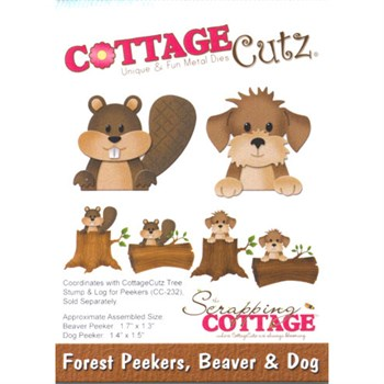 Cottage Cutz  Die - Forest Peekers Beaver & Dog (bæver & hund)