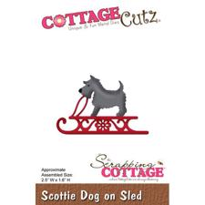 Cottage Cutz  Die - Scottie Dog on Sled