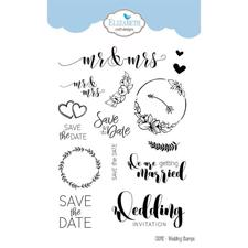 Elizabeth Crafts Clear Stamp Set - Wedding Sentiments