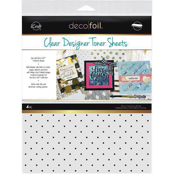 Deco Foil Clear Toner Sheets - Polka Dots