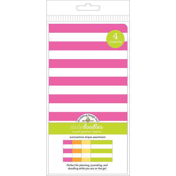 Doodlebug Travel Planner INSERTS - Summer Stripe (4 pcs)