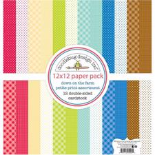 "Doodlebug Design Paper PACK 12x12"" - Down On The Farm (basispapir)"