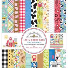 "Doodlebug Design Paper PACK 12x12"" - Down On The Farm"