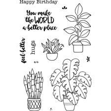 Jane's Doodles Clear Stamp Set - Plants