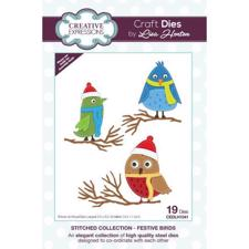 Creative Expressions  Die - Stitched Collection / Festive Birds