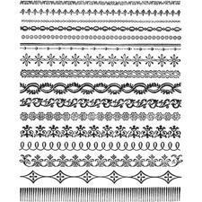 Tim Holtz Cling Rubber Stamp Set - Ornate Trims