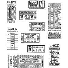 Tim Holtz Cling Rubber Stamp Set - Ticket Booth