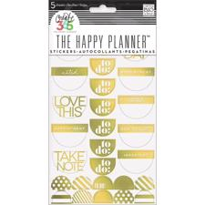 Happy Planner - Create 365 Stickers / Take Note Gold Foil